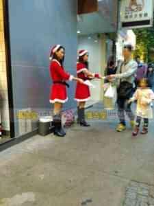 聖誕女郎宣傳派發 23