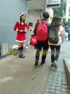 聖誕女郎宣傳派發 19